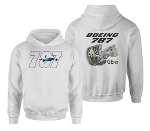 Boeing 787 & GENX Engine Designed Double Side Hoodies