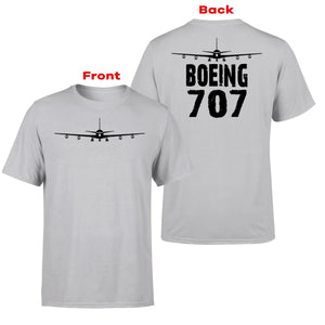 Boeing 707 & Plane Designed Double-Side T-Shirts