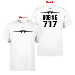 Boeing 717 & Plane Designed Double-Side T-Shirts