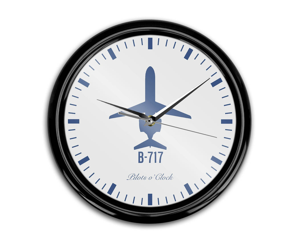 Boeing 717 Printed Wall Clocks Aviation Shop