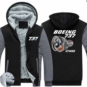 Boeing 737 & CFM56 Designed Zipped Sweatshirts