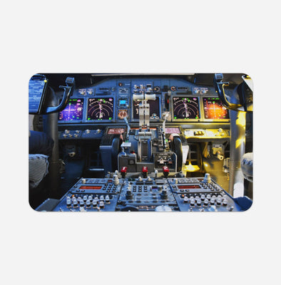 Boeing 737 Cockpit Printed Door & Bath Mats