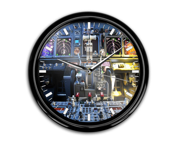 Boeing 737 Cockpit Printed Wall Clocks Aviation Shop