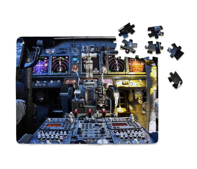 Boeing 737 Cockpit Printed Puzzles Aviation Shop
