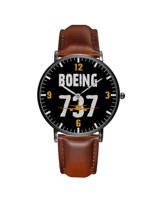 Boeing 737 Designed Leather Strap Watches
