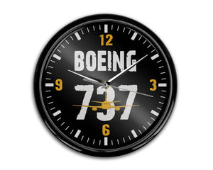 Boeing 737 Designed Wall Clocks Aviation Shop