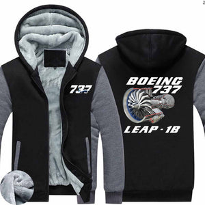 Boeing 737 & Leap 1B Designed Zipped Sweatshirts