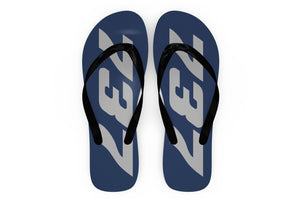 Boeing 737 Text Designed Slippers (Flip Flops)