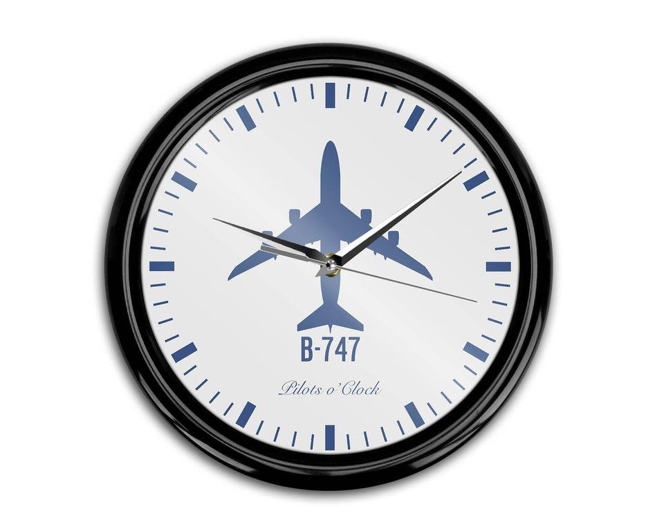 Boeing 747 Printed Wall Clocks Aviation Shop