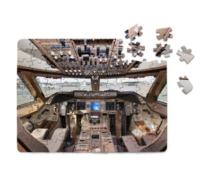 Boeing 747 Cockpit Printed Puzzles Aviation Shop