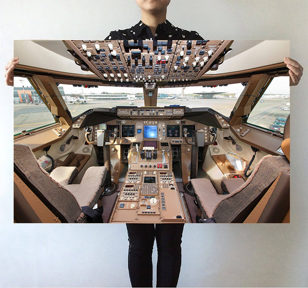 Boeing 747 Cockpit Printed Posters Aviation Shop