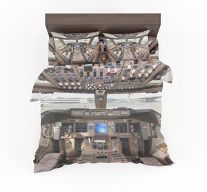 Boeing 747 Cockpit Designed Bedding Sets