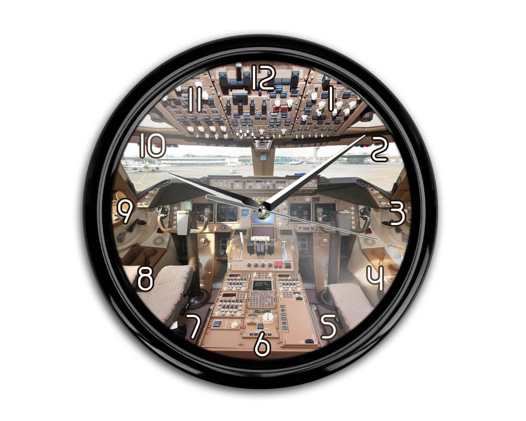 Boeing 747 Cockpit Printed Wall Clocks Aviation Shop