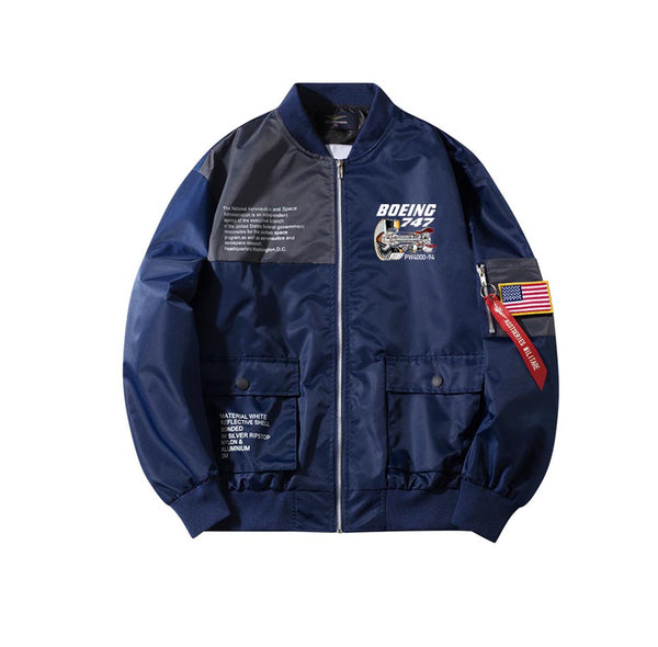Boeing 747 & PW4000-94 Engine Designed Special Jackets (Customizable FLAG)