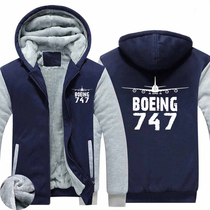 Boeing 747 & Plane Designed Zipped Sweatshirts