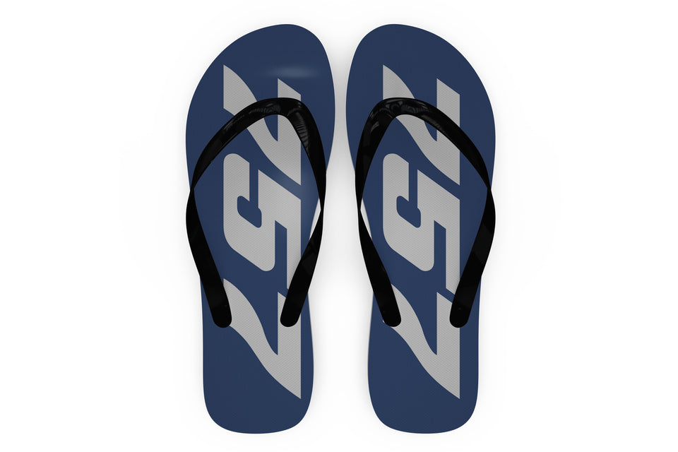 Boeing 757 Text Designed Slippers (Flip Flops)