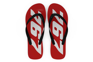 Boeing 767 Text Designed Slippers (Flip Flops)