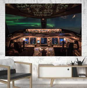Boeing 777 Cockpit Printed Canvas Posters (1 Piece) Aviation Shop