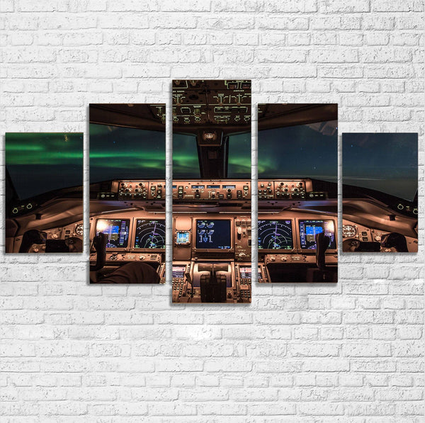 Boeing 777 Cockpit Printed Multiple Canvas Poster Aviation Shop