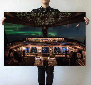 Boeing 777 Cockpit Printed Posters Aviation Shop