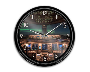 Boeing 777 Cockpit Printed Wall Clocks Aviation Shop