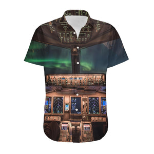 Boeing 777 Cockpit Designed 3D Shirts