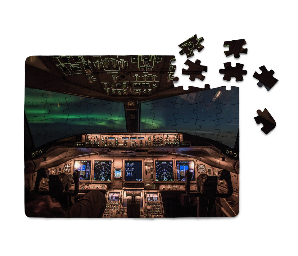 Boeing 777 Cockpit Printed Puzzles Aviation Shop