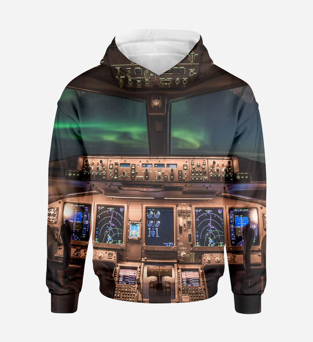 Boeing 777 Cockpit Printed 3D Hoodies
