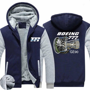 Boeing 777 & GE90 Engine Designed Zipped Sweatshirts