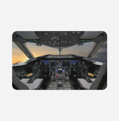 Boeing 787 Cockpit Printed Door & Bath Mats