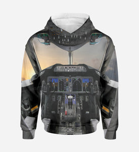 Boeing 787 Cockpit Printed 3D Hoodies