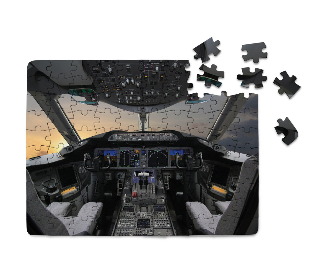 Boeing 787 Cockpit Printed Puzzles Aviation Shop