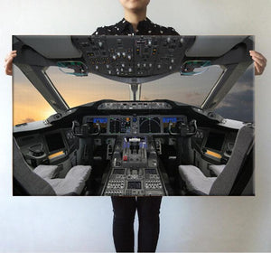 Boeing 787 Cockpit Printed Posters Aviation Shop