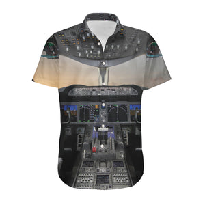Boeing 787 Cockpit Designed 3D Shirts