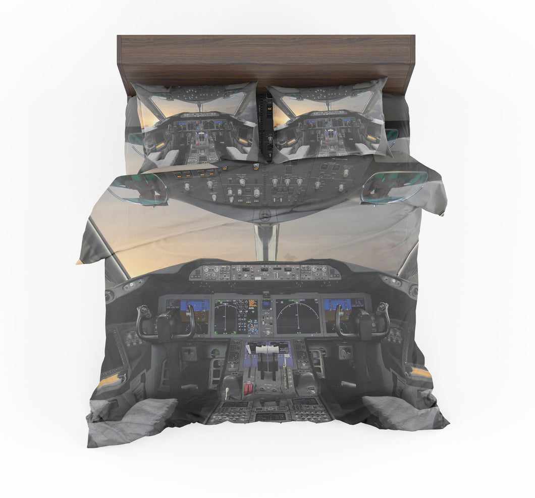 Boeing 787 Cockpit Designed Bedding Sets