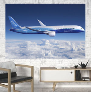 Boeing 787 Dreamliner Printed Canvas Posters (1 Piece) Aviation Shop
