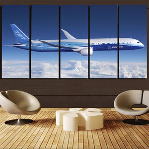 Boeing 787 Dreamliner Printed Canvas Prints (5 Pieces) Aviation Shop