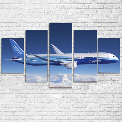 Boeing 787 Dreamliner Printed Multiple Canvas Poster