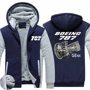 Boeing 787 & GENX Engine Designed Zipped Sweatshirts