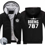 Boeing 787 & Plane Designed Zipped Sweatshirts