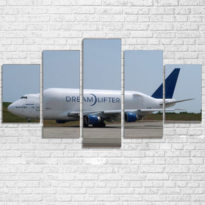 Boeing Dreamlifter Printed Multiple Canvas Poster Aviation Shop