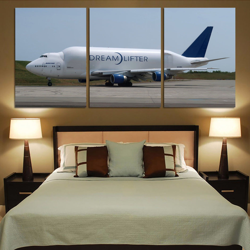 Boeing Dreamlifter Printed Canvas Posters (3 Pieces) Aviation Shop