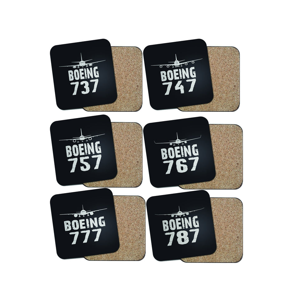 SPECIAL OFFER! Boeing Lovers (6 Pieces) Coasters Pilot Eyes Store