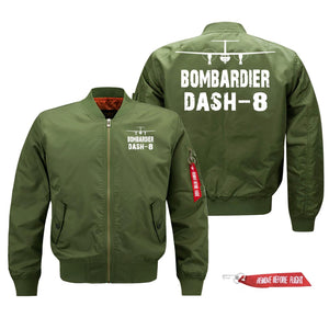 Bombardier Dash-8 Silhouette & Designed Pilot Jackets (Customizable)