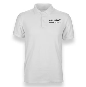 Born To Fly Designed Polo T-Shirts