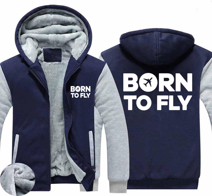 Born To Fly Special Designed Zipped Sweatshirts