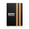 Born To Fly & Pilot Epaulettes (4,3,2 Lines) Designed Notebooks