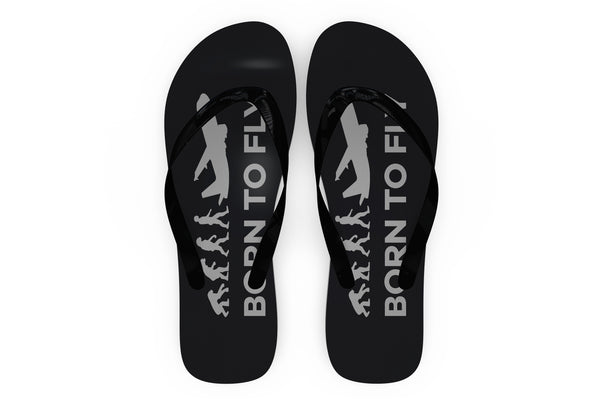 Born To Fly Designed Slippers (Flip Flops)