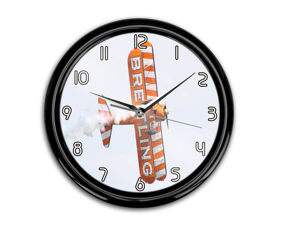Breitling Show Aircraft Printed Wall Clocks Aviation Shop