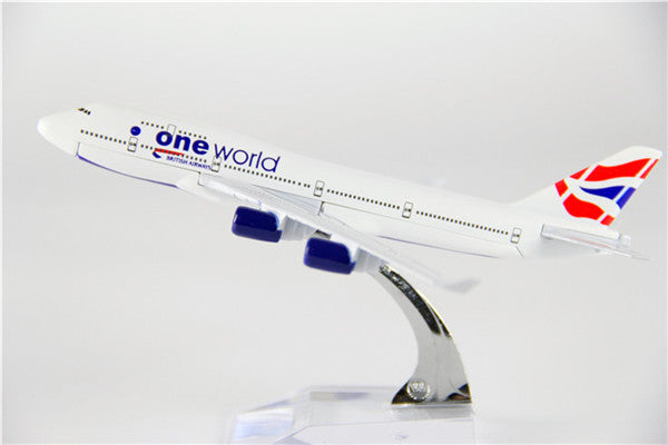 British Airways Boeing 747 (Oneworld Livery) Airplane Model (16CM)